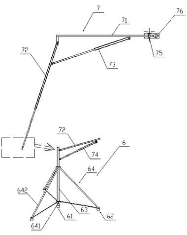 Design Device For Suspension Type Disaster Prevention And Rescue