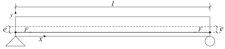 Effect of Prestress Force on Natural Bending Frequency of External